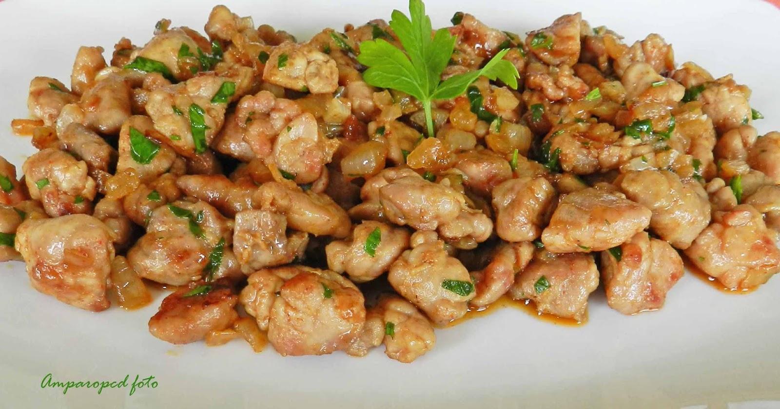 Cocinando en casa mollejas encebolladas for Cocinar higado de ternera