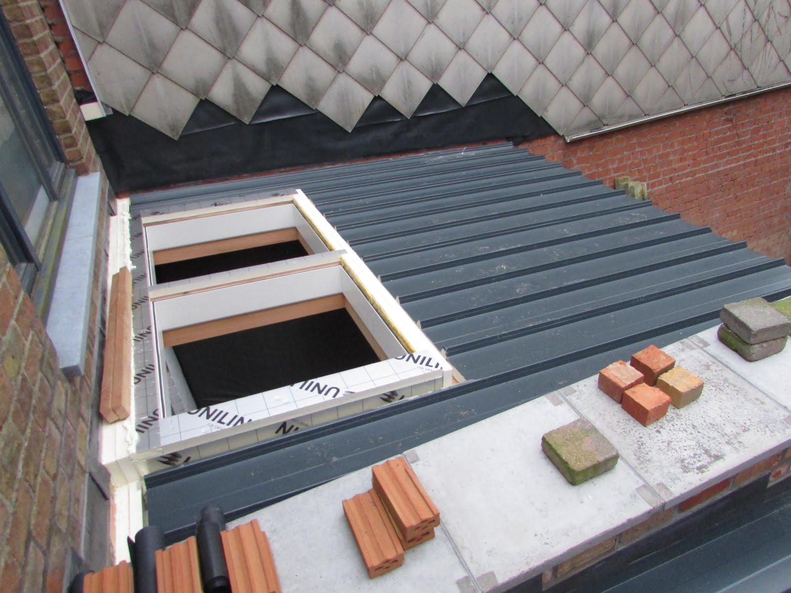 Verbouwing van ons ouderlijk huis dakafwerking uitbreiding 1 - Uitbreiding huis glas ...