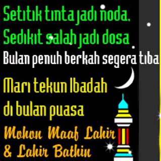 Gambar DP Mohon Maaf Ramadan Status Islami Puasa Ramadhan
