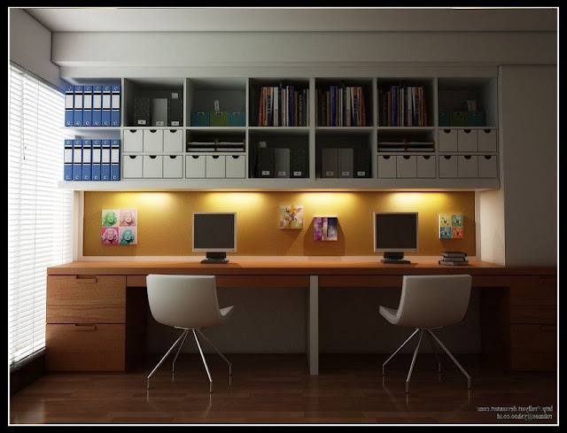 modular home office furniture two workstations ideas