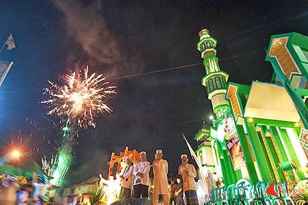 malam takbiran di masjid raya singkawang