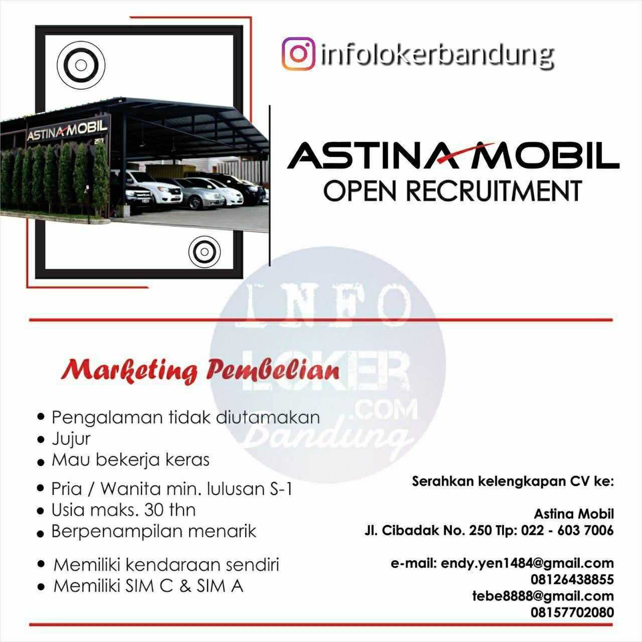 Lowongan Kerja Astina Mobil Bandung Mei 2018