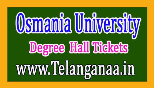 Osmania University Degree I Sem Hall Tickets   2017