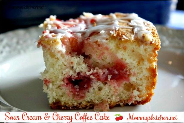 Sour Cream & Cherry Coffee Cake
