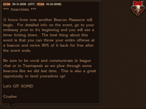 Stormfall Leagues Prepare Beacon Massacre 2