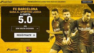 betfair supercuota 5 victoria de Barcelona a Sporting Lisboa champions 27 Septiembre