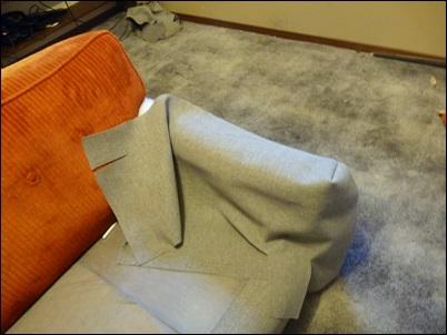 tecido do braço sofa