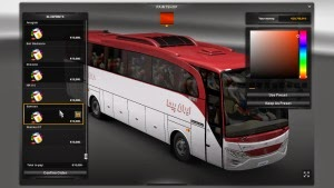 Skin pack for Mercedes bus