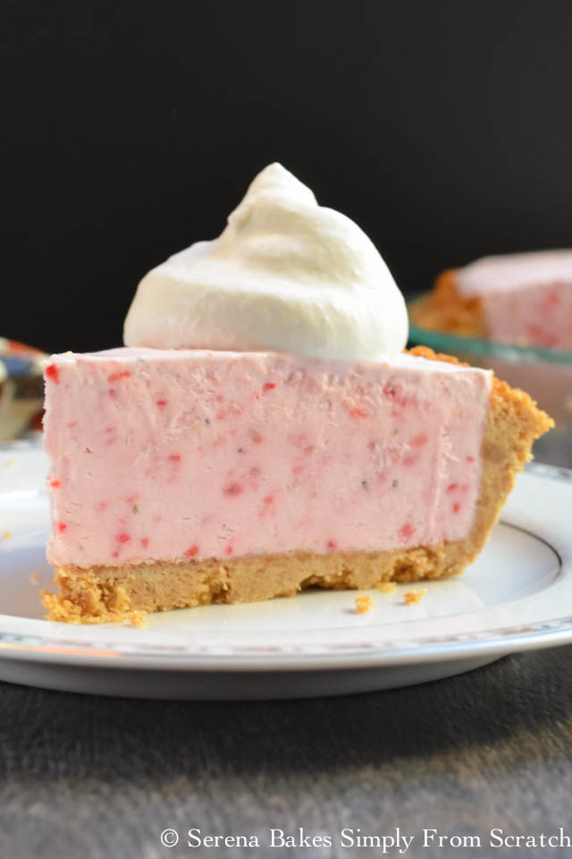 Frozen Strawberry Cheesecake from Serena Bakes Simply From Scratch.
