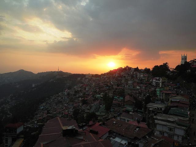 Sunset over Shimla