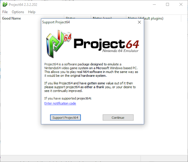 menjalankan project64