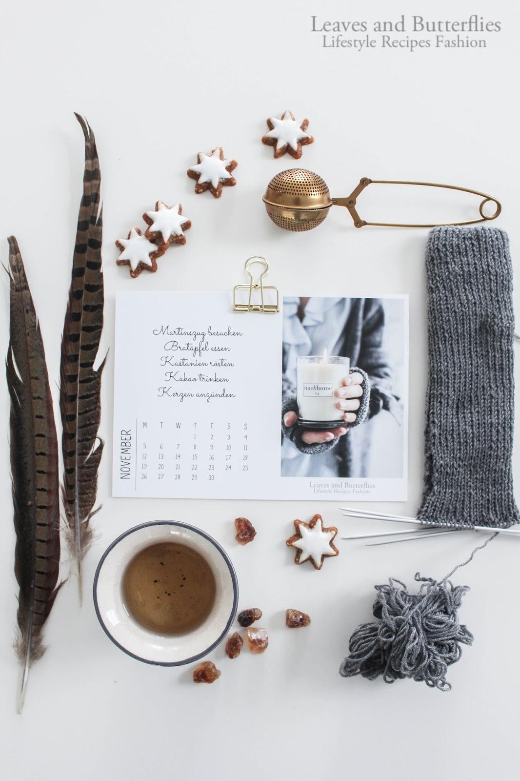 Der Leaves and Butterflies Kalender 2018