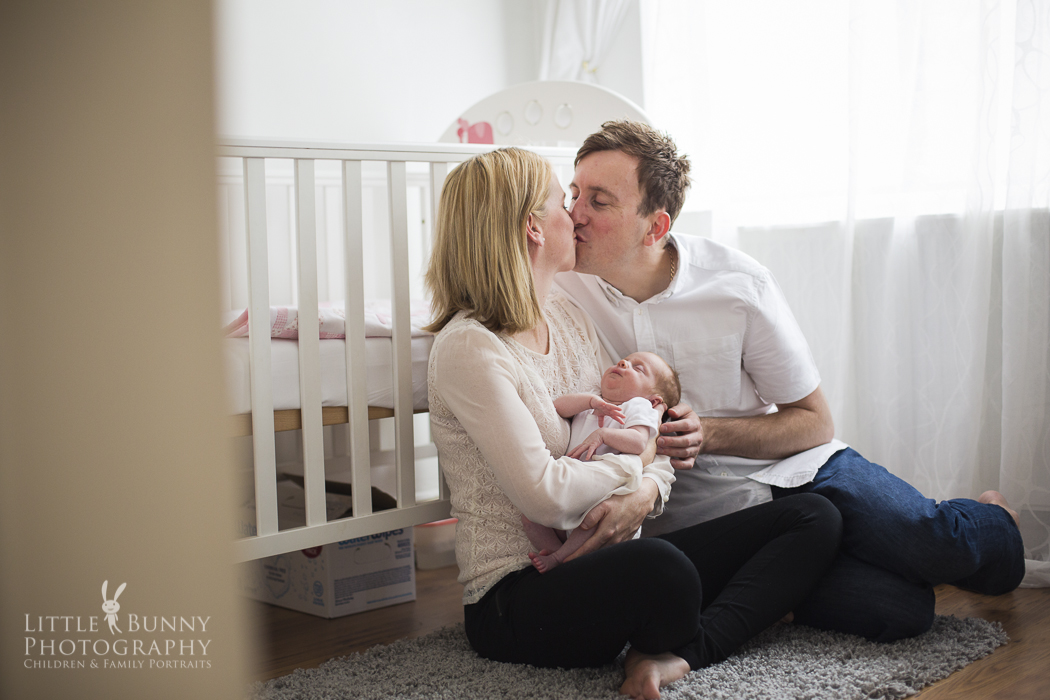 natural newborn and baby session in Hampstead and Muswell Hill, North London