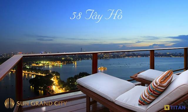 Căn hộ sun Group Quảng An có view tuyệt đẹp.