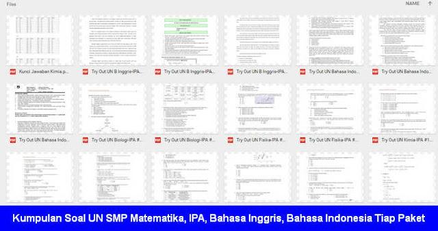 Kumpulan Soal UN SMP 2017