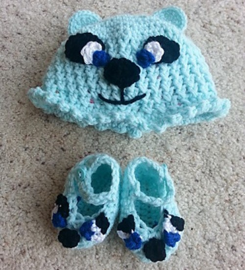 Bear Baby Booties - Tutorial
