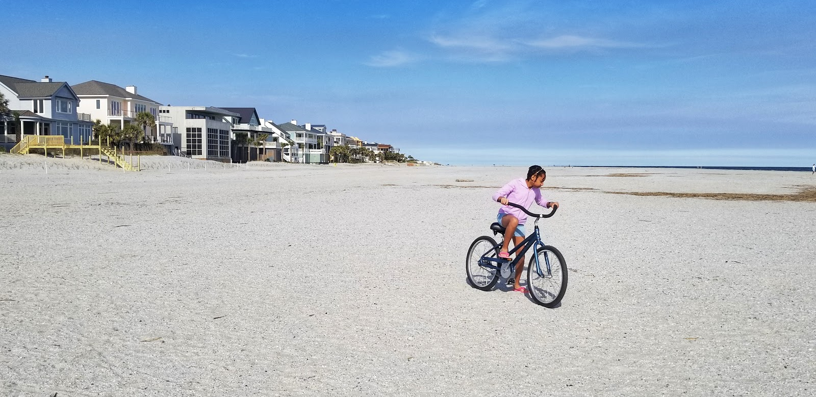 Biking on Beach at Wild Dunes Resort