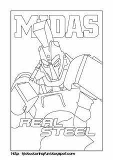 Real Steel Midas Learn To Coloring