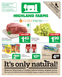 Highland Farms Flyer November 16 - 29, 2017
