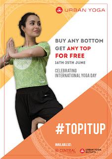 Urban Yoga celebrates International Yoga Day with #topitup