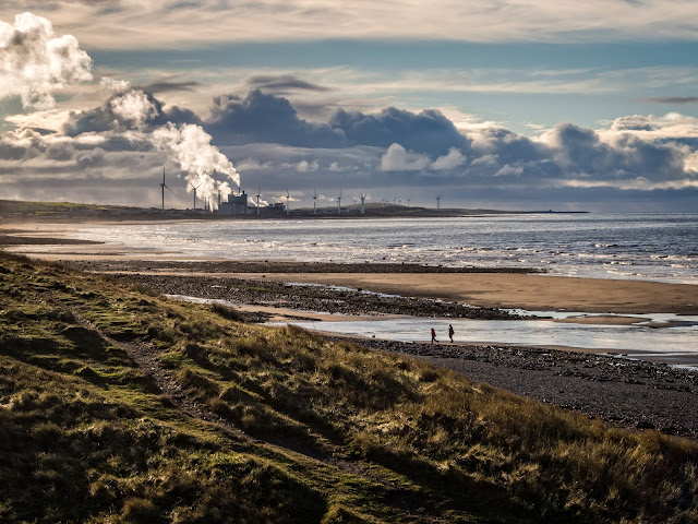 Photo of the view along the shore from Maryport looking towards Flimby