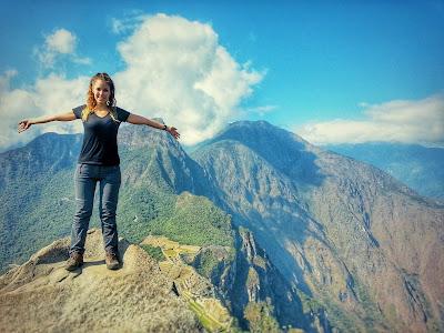 Cristina durante su viaje solidario a Perú