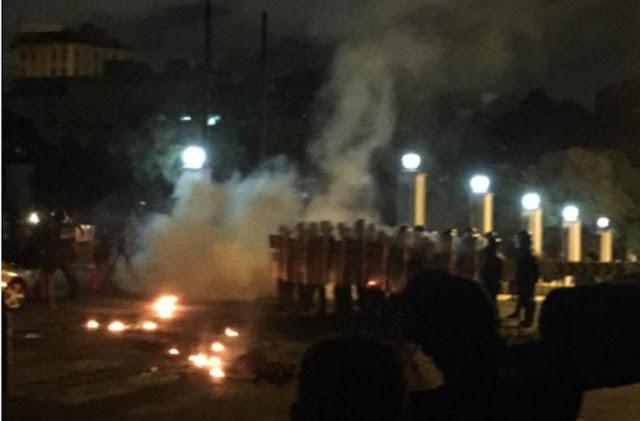 Noche de protestas en Caracas y Miranda