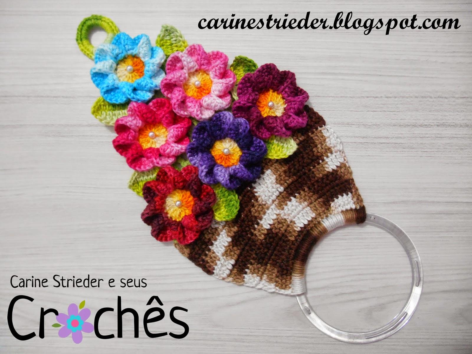 VIDEOAULA  Porta Pano de Prato Cesta de Flores. Olá amantes do Crochê!!! a0ef266ac19