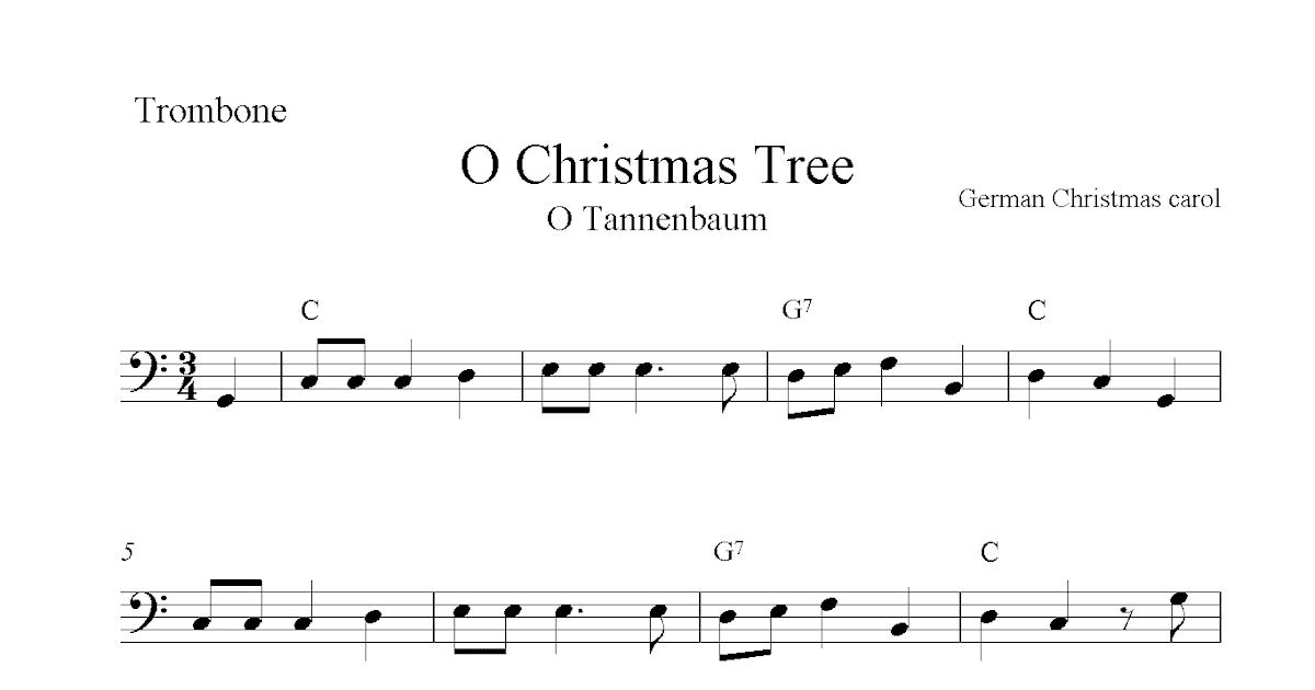 O Christmas Tree (O Tannenbaum), Free Christmas Trombone