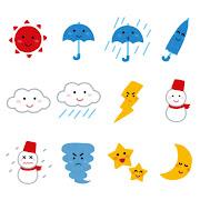 いろいろな天気のマーク