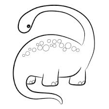 Diplodocus Dinosaur Coloring Sheet Online