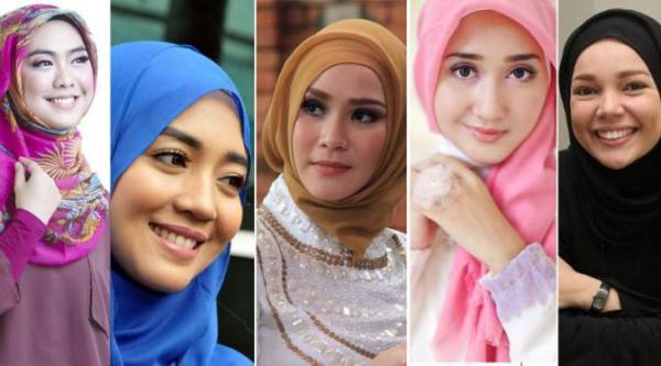 11 Artis Berhijab Tercantik dengan Fashion Hijab Masa Kini