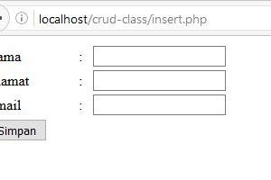 MEMBUAT CLASS UNTUK CRUD DATABASE PHP-MYSQL ( Bagian 2 )