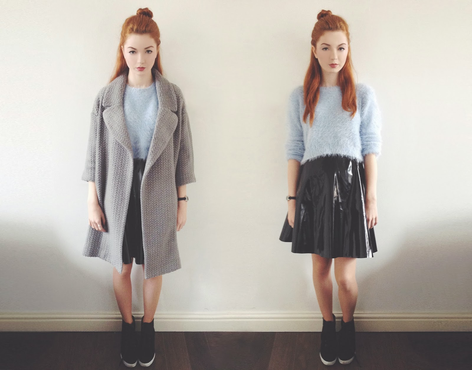 f03cc4da4 Coat – ASOS | Jumper – Missguided* | Skirt – Missguided* | Boots –  Missguided* (similar here)