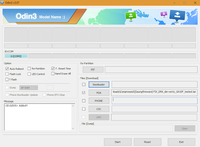 DM verity verification failed Samsung J7 Prime G610F
