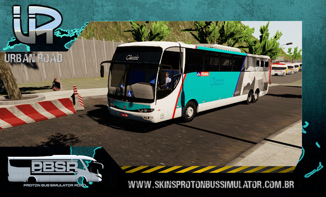 Skin Proton Bus Simulator Road - G6 1200 MB 0500 RSD Viação Penha