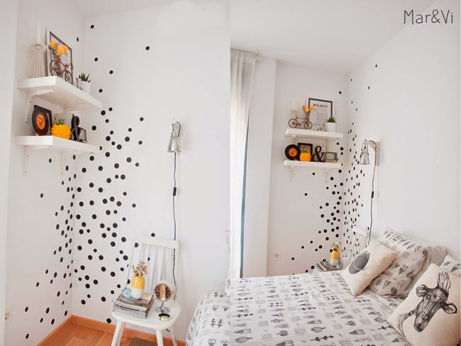 Ideas Deco: lunares en las paredes