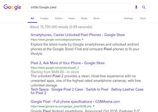 البحث عن موضوعات عناوينها تحتوى على Google pixel