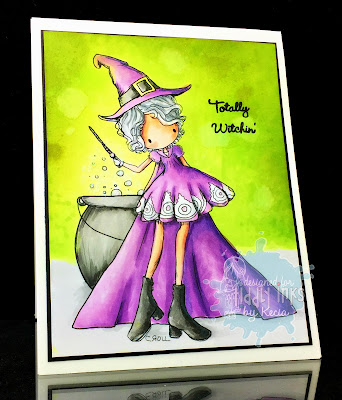 Tiddly Inks, Kecia Waters, Copic markers, Halloween, witch