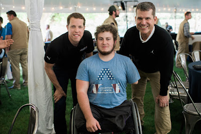 Brad Keselowski returned home to his home state of Michigan last week to raise some money for the Fisher House. #NASCAR