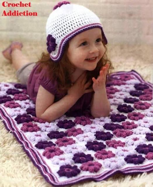 Patrón #755: Manta a Crochet