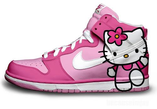 Hello Kitty Nike Dunk Shoes
