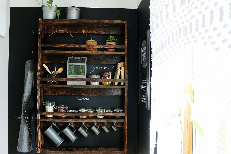 DIY, doityourself, drewno, featured, industrial, koszyk, kuchnia, loft, majsterkowanie, makrama, metamorfozy, vintage, zrób to sam, półka, postarzanie, shou sugi ban, aranżacje wnętrz, czarny, farba tablicowa, babamadom