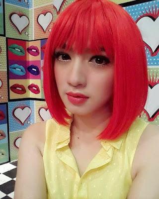 Angel Karamoy Cantik Rambut Merah