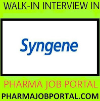Syngene International Limited Walk In Interview -  Apply Online