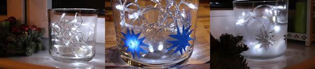 pomalowane szklane naczynie