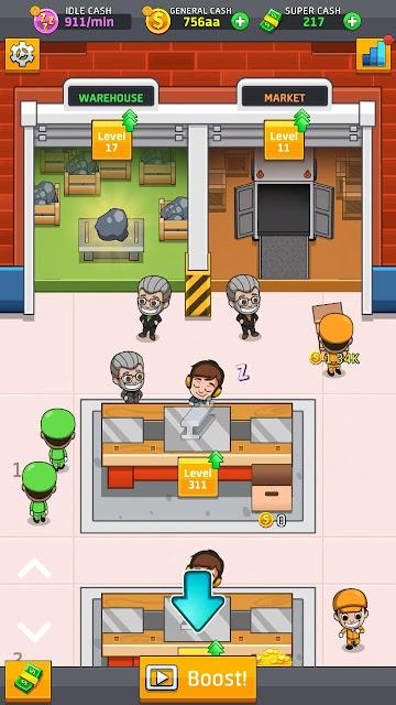 تحميل لعبة Idle Factory Tycoon مهكرة للاندرويد اخر اصدار