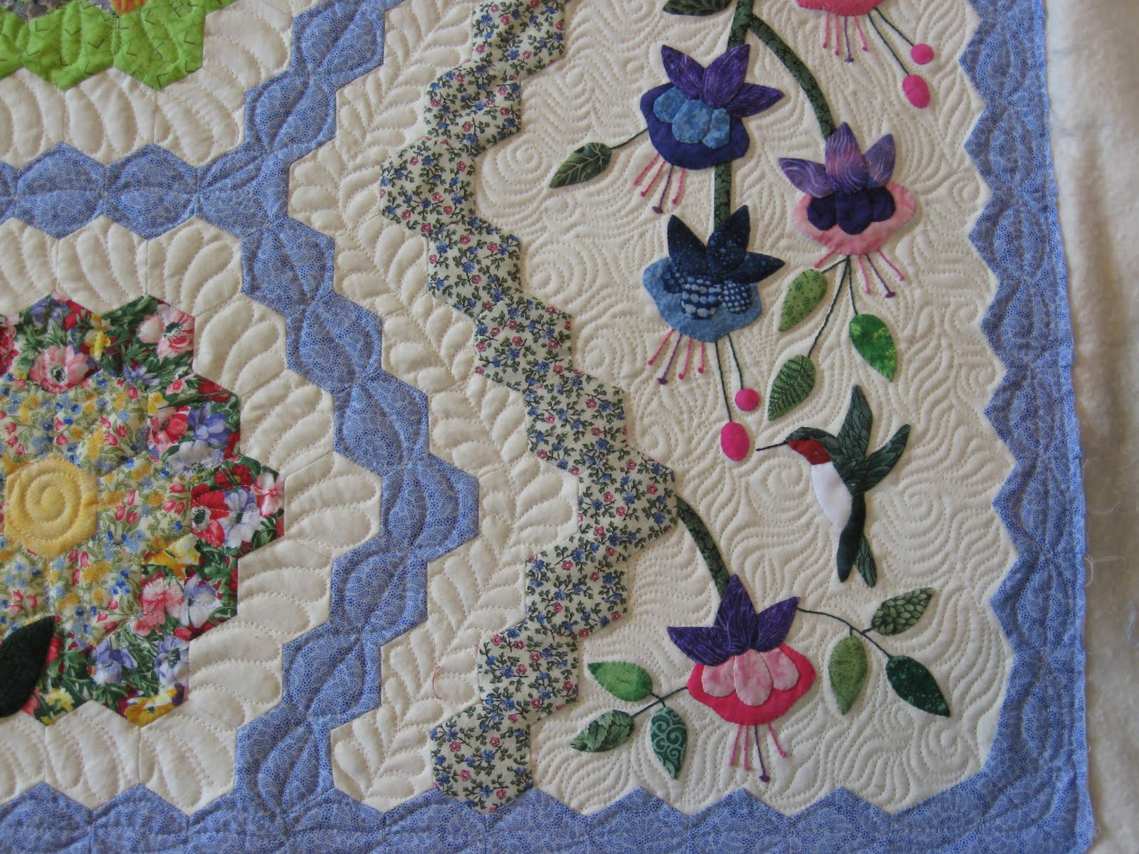 Twiddletails quilting grandmother 39 s flower garden - Grandmother s flower garden quilt ...