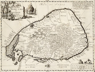 Hi Resolution Map of Ceylon from 1692