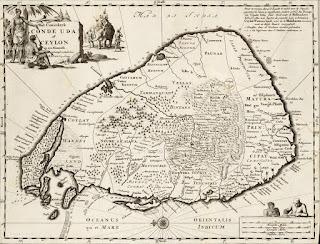 Hi Resolution Map of Ceylon from 1692